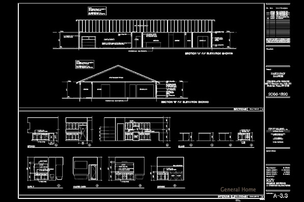 Elevation Floor Plan Autocad : Autocad drafting pahrump home general
